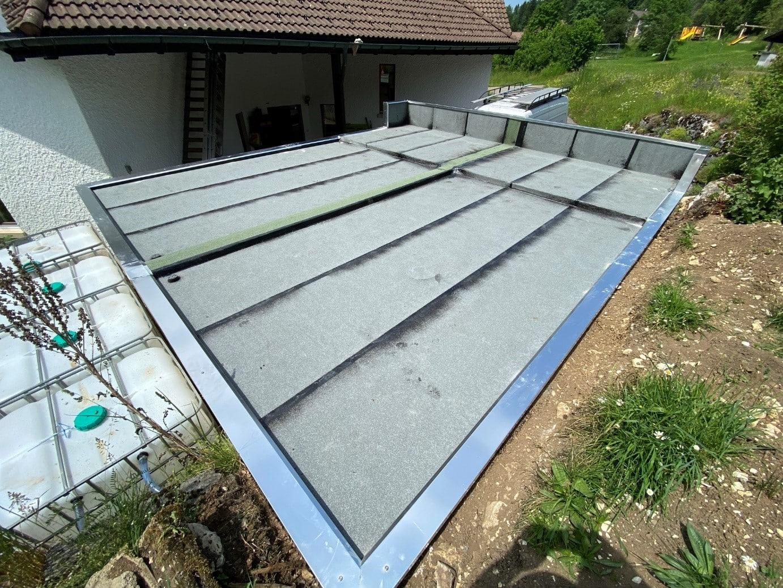 Dachsanierung Bitumen Garagendach Vordach Brüstung.....